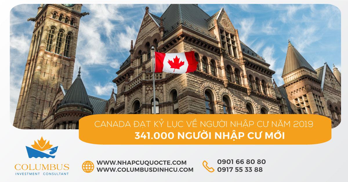 Canada Đạt Kỷ Lục Tiếp Nhận 341.000 Người Nhập Cư Trong Năm 2019