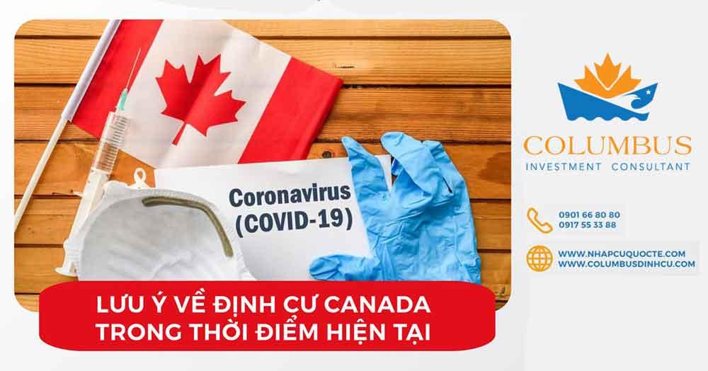Lưu ý về định cư Canada trong thời gian có dịch Covid-19